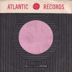 Atlantic Records U.S.A. Intense Black Company Sleeve 1960-1964