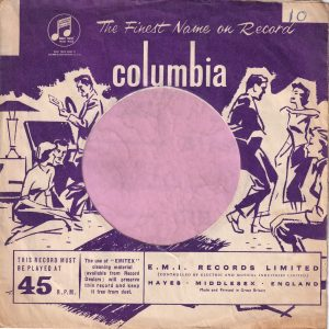 Columbia U.K. Made And Printed Under The ' M ' Company Sleeve 1957 – 1958