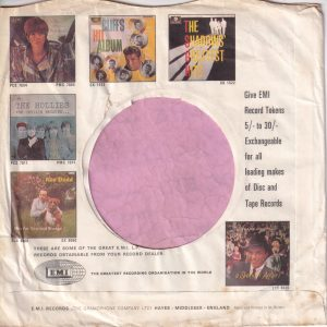 Columbia & H.M.V. ( His Masters Voice ) U.K. With Lp Thumb Nails 1963 -1967 Company Sleeve 1967