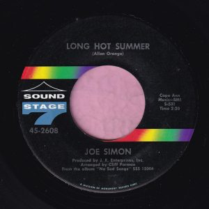 "Joe Simon "" Long Hot Summer "" Sound Stage 7 Vg+"