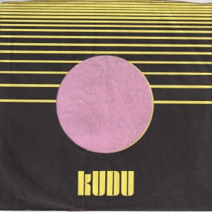Kudu Records U.S.A. Toned Paper Company Sleeve 1971 – 1977
