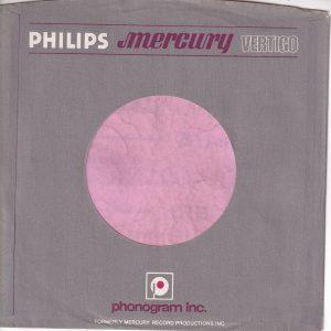 Philips Mercury Vertigo U.S.A. Grey Without Buildings Printed Company Sleeve 1972 – 1981