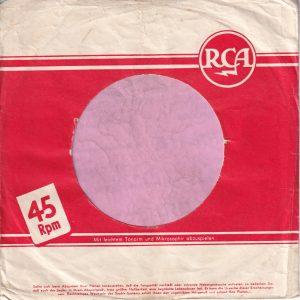 RCA Germany Company Sleeve 1955 – 1959