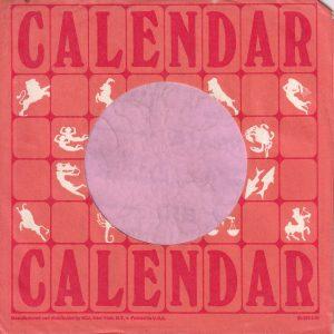 Calendar Records U.S.A. Company Sleeve 1968