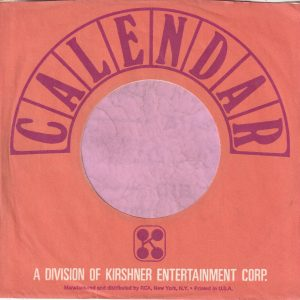 Calendar Records U.S.A. Company Sleeve 1968 – 1969