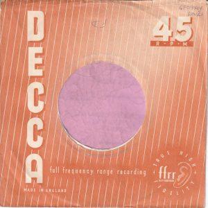Decca U.K. Company Sleeve 1954 – 1958