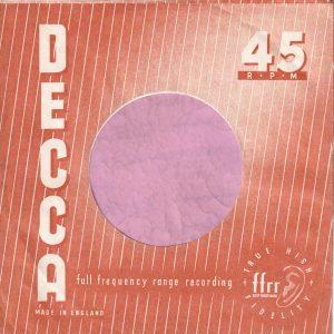Decca U.K. Company Sleeve 1958 – 1959