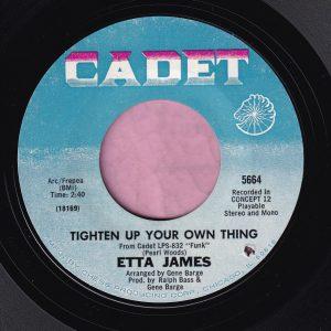 "Etta James "" Tighten Up Your Own Thing "" Cadet Vg+"