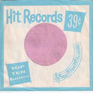 Hit Records U.S.A. Light Blue Company Sleeve 1962 – 1969