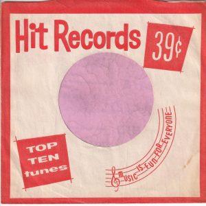 Hit Records U.S.A. Orange Company Sleeve 1962 – 1969