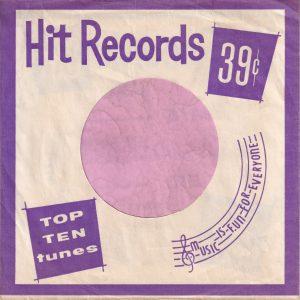 Hit Records U.S.A. Purple Company Sleeve 1962 – 1969