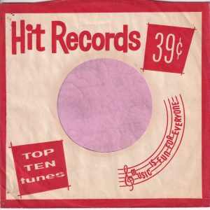 Hit Records U.S.A. Red Company Sleeve 1962 – 1969