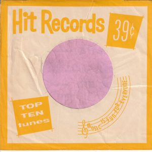 Hit Records U.S.A. Yellow Company Sleeve 1962 – 1969