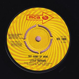 """Little Richard """" Try Some Of Mine """" MCA Vg+"""