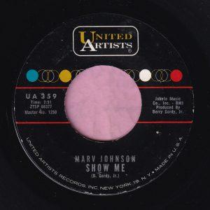 "Marv Johnson "" Show Me "" United Artists Vg+"