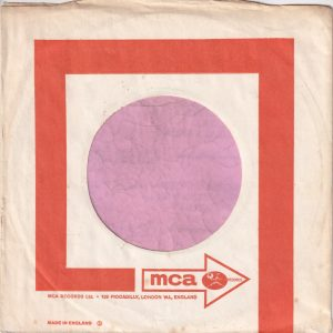 MCA U.K. Company Sleeve 1967 – 1969
