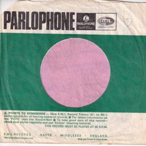 Parlophone U.K. Company Sleeve Fran The Fan No 2 1965 – 1966