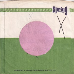 Spring Records U.S.A. No Street Details In Address Company Sleeve 1969 – 1974