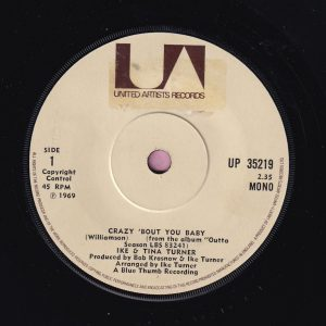 """Ike and Tina Turner """" Crazy 'Bout You Baby """" United Artists Vg"""