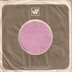 Warner Bros. Records U.K. Company Sleeve 1971