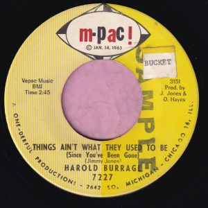 """Harold Burrage """" Things Ain't What They Used To Be """" M-Pac! Vg+"""
