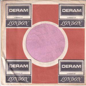 Deram U.S.A. Black Print Address Details Printed In White Company Sleeve 1970 – 1972