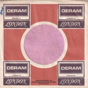 Deram U.S.A. Purple Print Address Details Printed In Black Company Sleeve 1970 – 1972