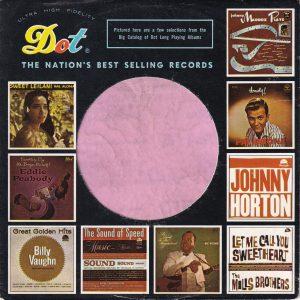 Dot Records U.S.A. Company Sleeve various Lp Thumb Nails 1956 – 1960 No Notch  1960 – 1964
