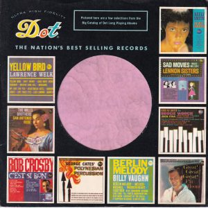 Dot Records U.S.A. Company Sleeve various Lp Thumb Nails 1961 No Notch  1960 – 1964