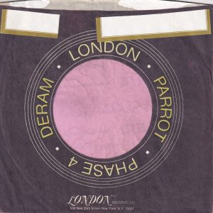 London Parrot Phase 4 Deram U.S.A. Purple And Orange Print Company Sleeve 1972 – 1976