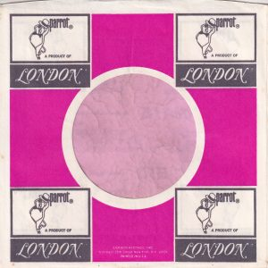 Parrot U.S.A. Black Print Address Details Printed In White Company Sleeve 1968 – 1972