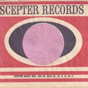 Scepter Records U.S.A. 254 W. 54th Street Address Straight Top Company Sleeve 1965 – 1976