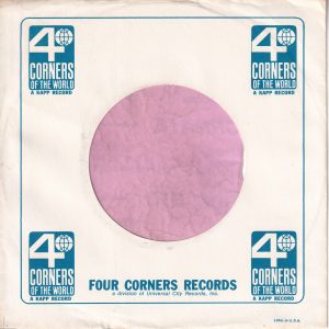 4 Corners Of The World U.S.A. A Kapp Record Company Sleeve 1963 -1967