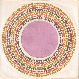 A&M Records U.S.A. Cut Straight No Notch Company Sleeve 1963 – 1969