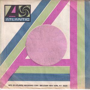 Atlantic U.S.A. B'Way N.Y. Address Blue , Green And Purple Company Sleeve 1971 – 1973