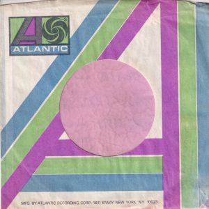 Atlantic U.S.A. B'Way N.Y. Address Pale Blue , Green And Purple Company Sleeve 1971 – 1973