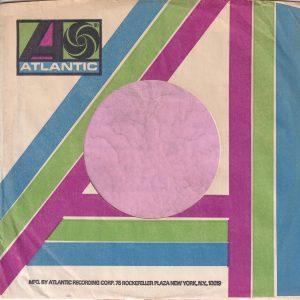 Atlantic U.S.A. Rockefeller Address Pale Blue Green And Purple Company Sleeve 1973 – 1978