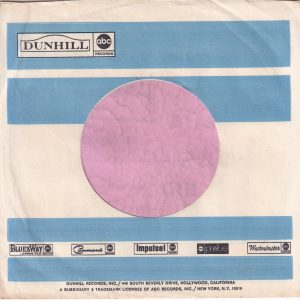 Dunhill Records Abc Bluesway Command Impulse Probe Westminister U.S.A. Company Sleeve 1968 – 1970