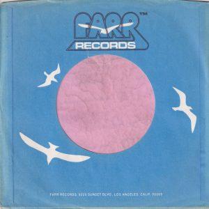 Farr Records U.S.A. Company Sleeve 1976 -1978