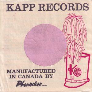 Kapp Records Canadian Company Sleeve 1961 – 1962