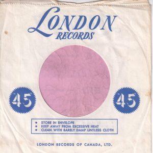 London Records Canadian Company Sleeve 1961-1965