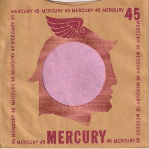Mercury U.S.A. Sleevelope Printed On Inside Company Sleeve 1950 – 1952