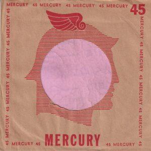 Mercury U.S.A. Small Mercury Small 45 Company Sleeve 1950 – 1952
