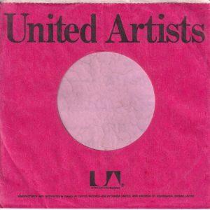 United Artists Canadian Company Sleeve 1978-1979